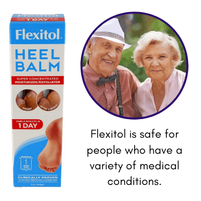 Flexitol is safe for people who have a variety of medical conditions.