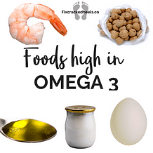 Foods high in Omega 3  to help Vitamin deficiency and cracked heels