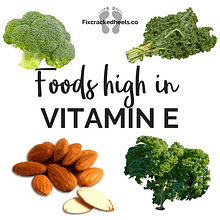 Foods high in Vitamin E to help Vitamin deficiency and cracked heels.