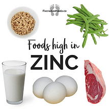 Foods rich in zinc to help Vitamin deficiency and cracked heels
