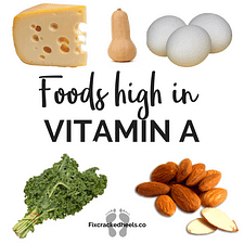 Foods high in vitamin A to vitamins deficiency and cracked heels